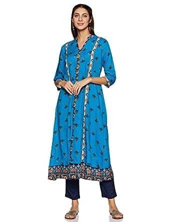 Amazon Brand - Tavasya Women's A Line Salwar Suit Set