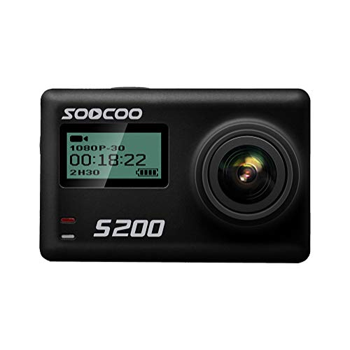 """LuckyZA 4K WiFi 1080P 20MP Unterwasser Action Kamera Intelligente Fernbedienung Sport Kamera Camcorder mit Sprachsteuerung 2.35"""" Touchscreen externes MIC GPS 170 ° Objektiv 150 min Aufnahmezeit,Black"""