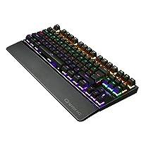 Mechanical Keyboard Gaming Keypad Key Board Pad 10 Backlit Modes USB Interface Detachable Hand Rest