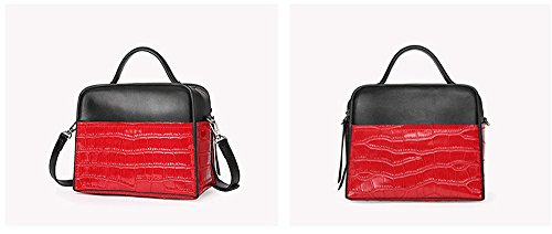 Xinmaoyuan Handtaschen der Frauen Sommer weiblich Tasche Leder Mode Stein Leder Handtasche Bump Farbe einzelne Schulter Obliquer Querschnitt Bag Lady Bag, Khaki Rot