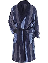 Robe de chambre en polaire, à rayures - Homme