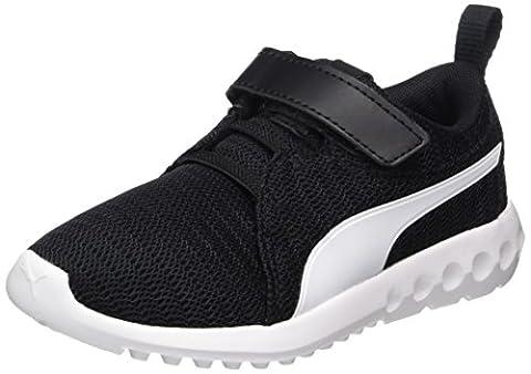 Puma Unisex-Kinder Carson 2 V PS Sneaker, Schwarz (Black-White), 30 EU