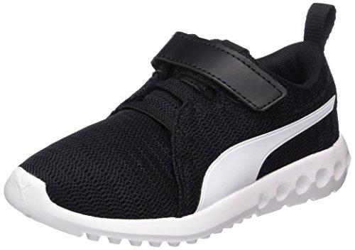 Puma Unisex-Kinder Carson 2 V PS Sneaker, Schwarz Black White 2, 30 - Jungen Schuhe Puma