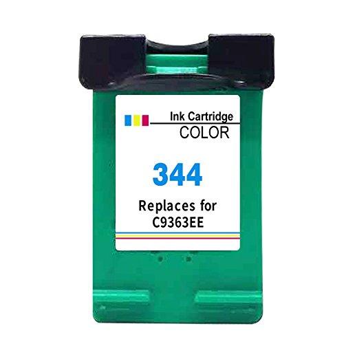 High-yield-tinte (Kyansin wiederaufbereitete 344 XL Tintenpatrone Ersatz für HP 344 (C9363EE) High Yield Drucker Tinten für HP Deskjet 460 460c 460cb 460wbt, 1 Packung (1 schwarz))