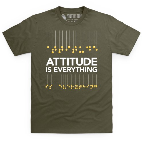 Attitude is Everything Braille Lanterns T-Shirt, Herren Olivgrn