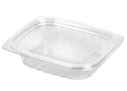Clearpac Container (Dart C8DCPR, 8-Ounce ClearPac Clear Rectangular Plastic Container With A Flat Lid, Take Out Deli Fruit Food Disposable Containers (50) by DART)