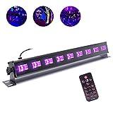 U'King - Luce nera a LED con 9 LED UV da 3 W, con telecomando e comando DMX, per DJ e discoteca, illuminazione da palcoscenico, luci di carnevale