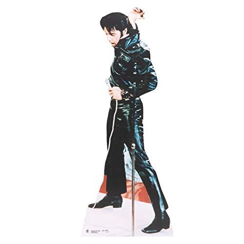 Star Cutouts Pappaufsteller von Elvis Leder (schwarz)