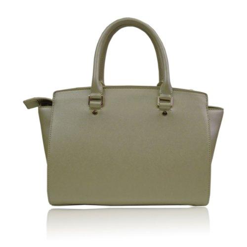 UKFS Celine Borse Tote / progettista delle ragazze delle signore del Faux della borsa sacchetto di cuoio / spalla (Medio Rosso) Medio Oro