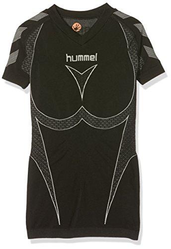 Hummel Mädchen Baselayer Hero Short Sleeve Jersey, Black/Dark Grey, 10 - 12, 03-995-2055