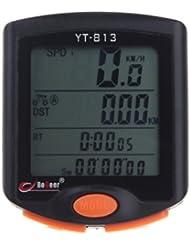 Docooler Velócimetro Cuentakilómetros Ordenador de Bicicleta Sensor LCD Retroiluminada Resistente de Lluvia
