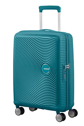 American Tourister Soundbox Spinner Small Expandable Bagaglio A Mano, 55 cm, 41 Liters, Verde (Jade Green)