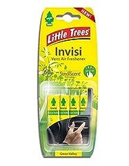 Idea Regalo - 4 x Little Trees'INVISI'Vent Air Freshener-Profumo VALLEY'Verde