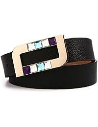Ya Jin La ceinture de cuir de mode de la ceinture des femmes de lissent la bc716186f9b