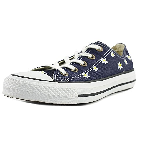 Converse Womens Chuck Taylor All Star Ox Canvas Trainers Navy Yellow