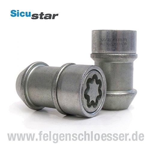Sicustar Felgenschloss Mutter M14x1,5 - Kegel 60° - SW 19