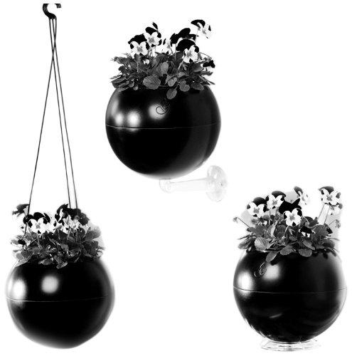 greenbo-greenball-macetero-con-3-soportes-y-reserva-de-agua-17-x-143-cm-color-negro