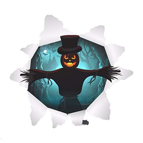 elscheuche Wandaufkleber für Halloween Party Dekoration Wohnzimmer Schlafzimmer Bar Club Wandtattoos Kunstwand ()