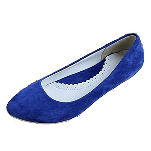 Nonbrand Damen Absatz Ballerinas Blau