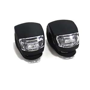 Lerway 2PCS Ultra Bright Waterproof LED Bike Bicycle Light Set 2 LED Light (Black)