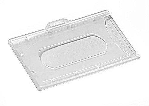5 Kartenhalter transparent matt, für EC-Karten, Kreditkarten, Werksausweise, Fahrkarten, etc. (ohne Befestigung)
