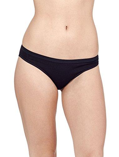 Icebreaker Damen Funktionsunterwäsche Siren Bikini Slip, schwarz, XL