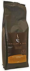 Spiller & Tait Pure Colombian Huila - Coffee Beans 1kg Bag - Top Speciality Coffee Roasted in the UK - Gourmet Beans for Great Tasting Coffee at Home - Premium Quality Arabica Beans