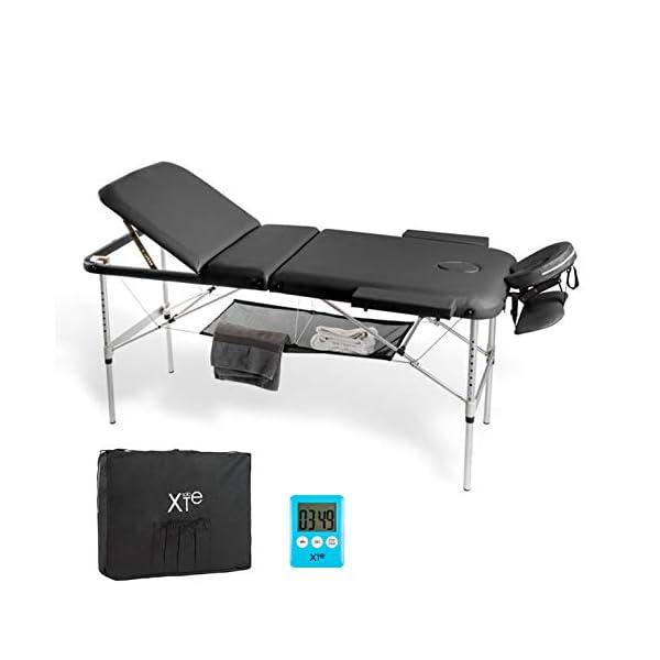 Lettino Da Massaggio Portatile In Alluminio.Lettino Da Massaggio 3 Zone Alluminio Portatile Reclinabile Timer