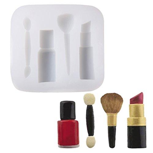 Anladia 4 Loch Kosmetik Make up Motive Silikon Ausstechform Ausstecher Fondant Marzipan Torten Deko #6