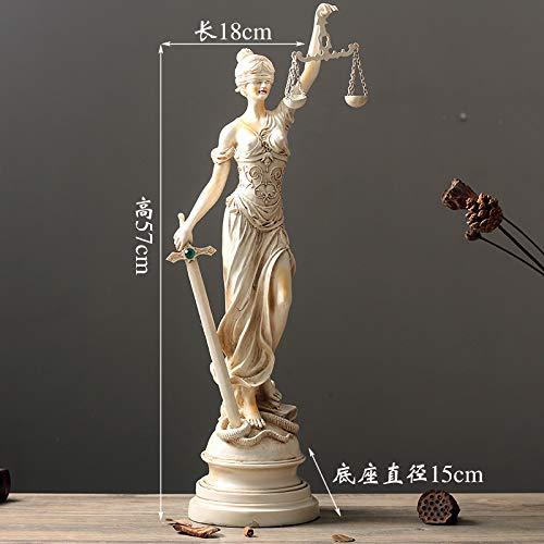 Powzz ornament Skulpturen Deko Retro Wohnzimmerdekoration Charakter Tischdekoration Griechische Auftragsstatue Themis, Trompete -