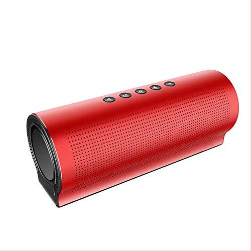 er Tragbarer drahtloser Lautsprecher Überragende Klangqualität 20 W großer Power-Audio-LautsprecherRot ()