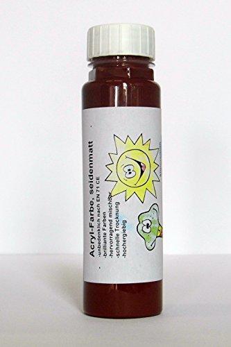 ACRYLFARBE, 300 g., MAHAGONI rotbraun dunkelbraun holz - seidenmatt - Malfarbe Künstlerfarbe - brilliante Farben - hervorragend mischbar - schnelle Trocknung - hochergiebig - Qualität aus deutscher Produktion -