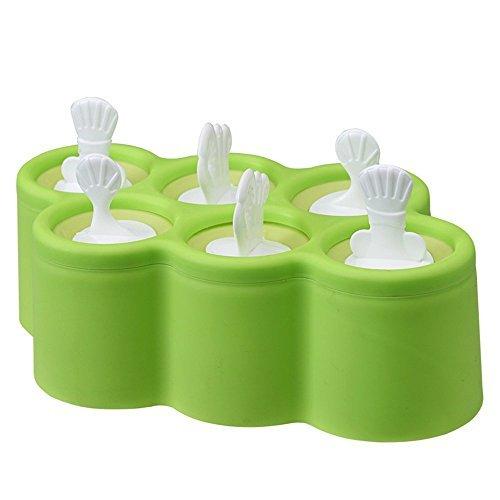 flyyfree 6 x Fisch-Form DIY Eis Formen Popsicle Formen Summer Cool Tools zufällige Farbe