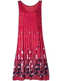 Leichtes Sommerkleid für Damen Maxi-Kleid Leinen Mehrere Farben 40 42 44
