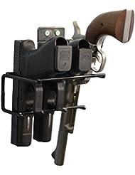 Pistolet boomstick Accessoires boom-10006Revêtement en vinyle Pistolet Pistolet Support mural Rack–Noir