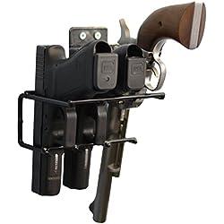 Boomstick Gun Accessories boom-10006Pistola con Revestimiento de Vinilo Rack de Montaje en Pared de Pistola, Color Negro