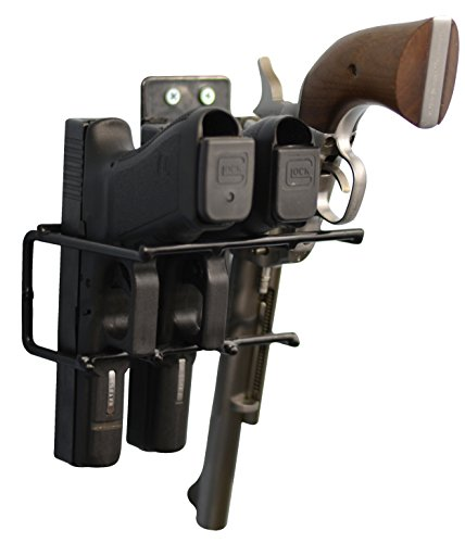 Preisvergleich Produktbild Boomstick Gun Zubehör boom-10006Pistolen Vinyl Beschichtet Pistole Wandhalterung Rack–Schwarz