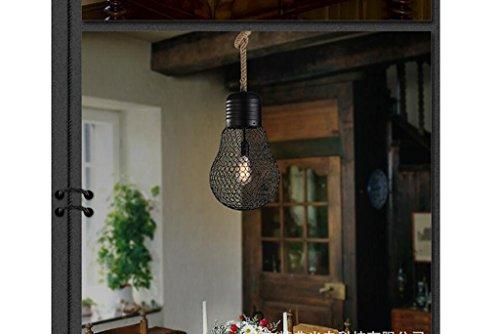 San Tai@Lampada lampadario a sospensione design retrò,Nero,ferro,30cm*H115