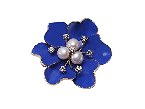 JYX Flower Brooch Pin White Freshwater Pearl Bouquet Bridal Wedding Birthday Gifts for Mum / Her / Ladies (style3)