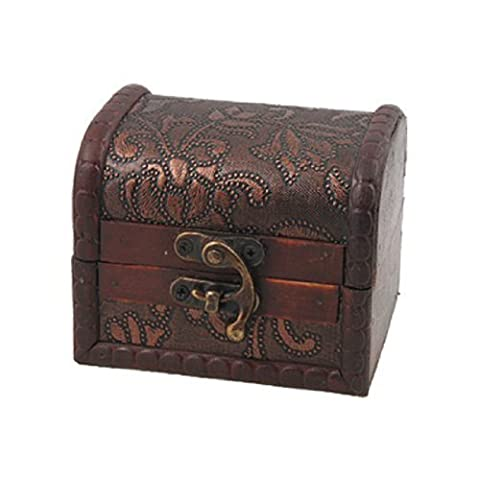 sourcingmap® Decorative Buckle Flower Embossed Craft Jewelry Box