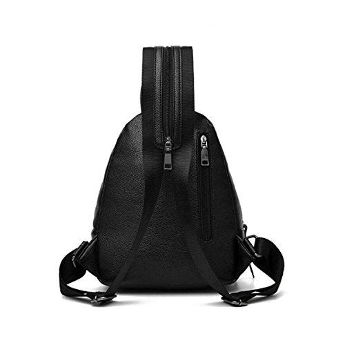 NBAG Frauen Rucksack Lässig Dual-use Brust Mode Wilden Weben Rucksack Hochschule Wind Schultasche,Black Blue