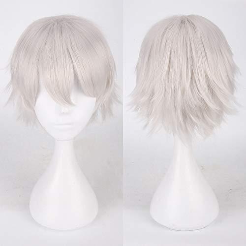 TianWlio Perücken Damen Mehrfarbig Kurz Glattes Haar Perücke Anime Party Cosplay Volle Verkauf Perücken 35cm