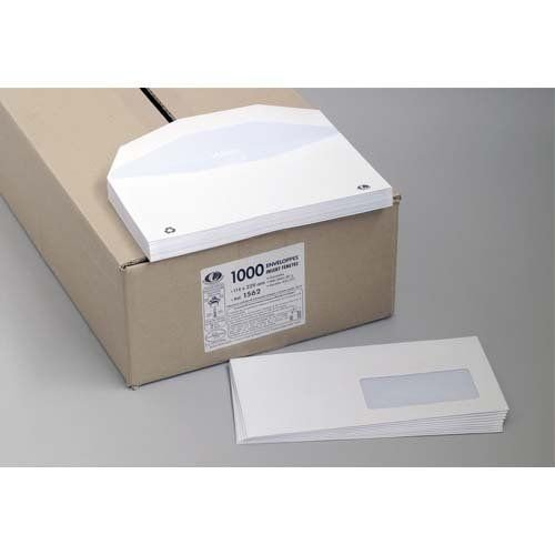 Boîte De La Couronne Briefumschläge für mechanische einführen, 1.000Stück 162x 229mm Fenster 45x 100mm 80g Pergamentpapier weiß NF environnement Zertifizierung