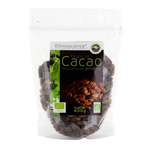 Rohe Kakaobohnen Bio - perfekt für Vegan und Paleo - ungerösteten Criollo Kakao - Keine Industriemassenware - Fair gehandelt - kein künstliches Aroma - Keine Pestizide - Frisch = maximal gesunde Inhaltsstoffe | 400g | Ecoidées