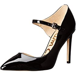 Sam Edelman Damen Nora Pumps, Gold (Black Patent), 40 EU