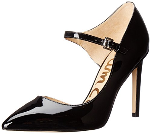 Sam Edelman Damen Nora Pumps Gold (Black Patent)