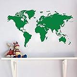 guijiumai Weltkarte-Wandaufkleber, wenn Reise frei war, würden Sie Mich nie Wieder sehen Wandkunst-Vinylwandhauptdekor-entfernbares Wohnzimmer 6 107cmx58cm