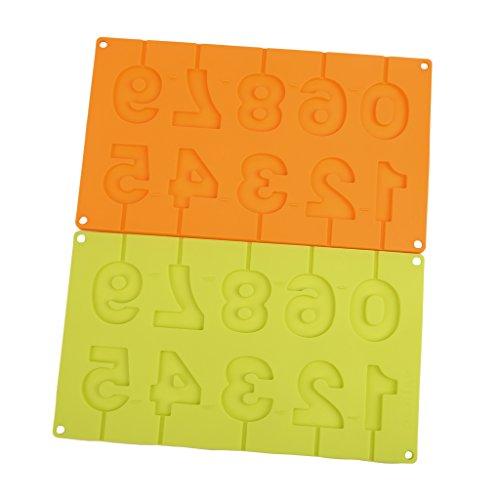Guoyy 0-9 Zahlen Lollipop Form DIY Backformen Silikon 3D Karte Handgemachte Pop Sucker Sticks Lolly Schokolade Süßigkeiten Form Mit Stick Form