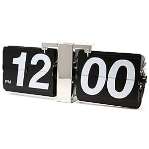 JCC Retro Series Decorative Classic Jumbo Large Size Flip Page Down Wall Hanging Clock Quartz Desk Clock by JCC