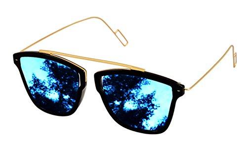 Shvas Uv Protected Wayfarer Unisex Sunglasses(Nubiasupermirblu|Blue)